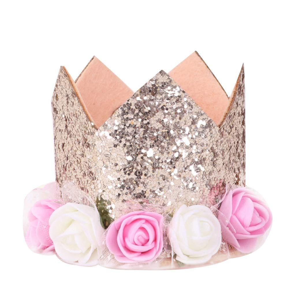Champagne Runfon Crown Pet Birthday Hat per Cani Gatti Gattini Riutilizzabile Festa di Compleanno Pet Fascia Cappelli con 1/ /9/cifre ciondoli Grooming Accessori