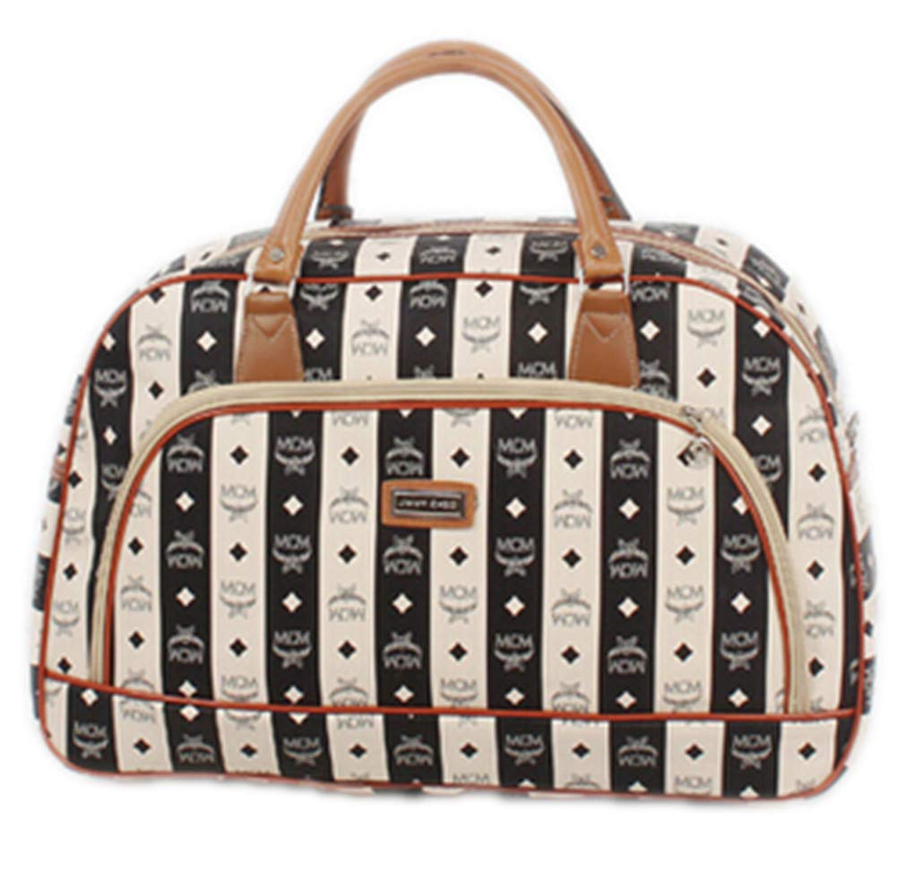 Waterproof Travel Bag Summer Style Leather Women Bag Travelbag Print Luggage Black 1
