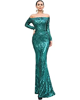 8033df6c99e Miss ord Women Sexy Bustier Mermaid Sequin Bodycon Long Dress White ...