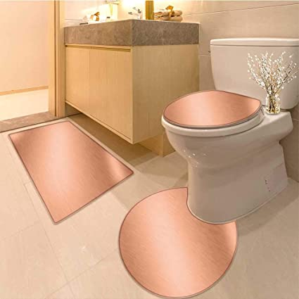 90bf5852c1d1 Amazon.com: Miki Da U-Shaped Toilet Mat copper metal steel plate ...