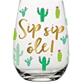 20 oz Stemless Wine Glass (Sip Sip Ole)