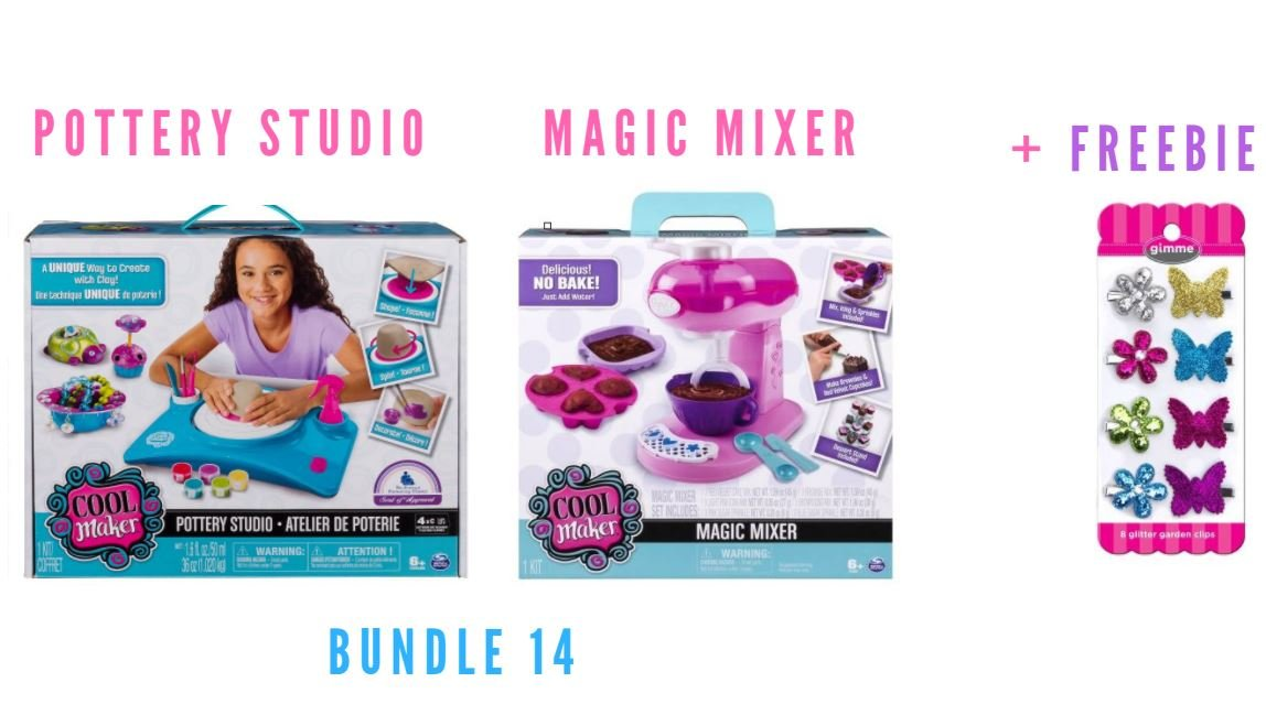 Cool Maker - Pottery Studio, by Spin Master (Packaging May Vary) (1 Pottery Studio + 1 Magic Mixer + Freebie)