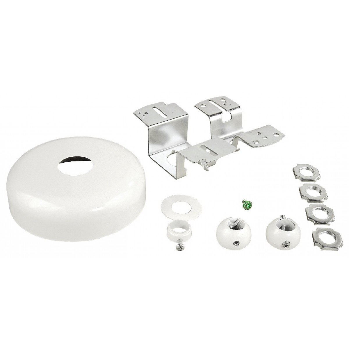 2 Pcs, Light Fixture Canopy Kit-Universal, Steel Powder Coated White for Hanging Fluorescent Lighting & Exit Signs