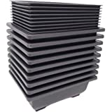 Bonsai Training Pots Humidity Trays - Built in Mesh, 6-Inch Large Planters + Made from Durable Shatter Proof Poly-Resin, 9-Pa
