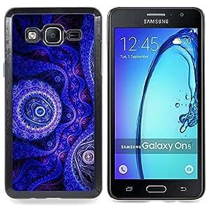 Planetar® Fondo de pantalla azul púrpura Dibujo Diseño Arte Samsung Galaxy On5 O5 Fundas Cover Cubre Hard Case Cover
