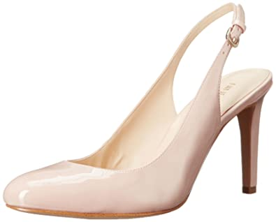 92e931dd26f Nine West Women s Holiday Dress Pump Synthetic Natural 8.5 M US