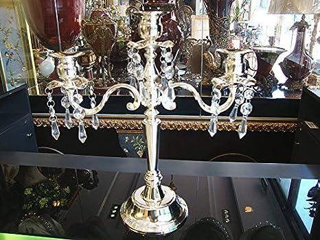 Ssehjhs65 Braccio Tre Lega Argentata Natale Candelabro Decorativo Moderna Base In Metallo Colonna Home Wedding Puntelli Candelabro 3 Braccio Di Cristallo Pendenti