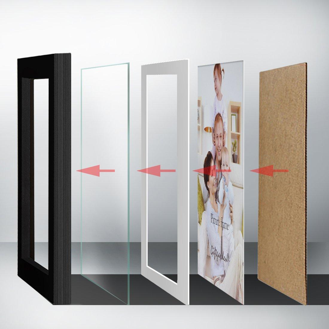 Amazon.de: Giftgarden 8er Bilderrahmen Set MIT Passepartout 13x18 ...