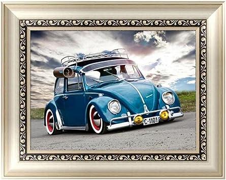 Car Staron 5D Diamond Painting DIY Cross Stitch Kit Craft Wall Art Decor Diamond Embroidery Rhinestone Painting by Number Kits Home Decor E