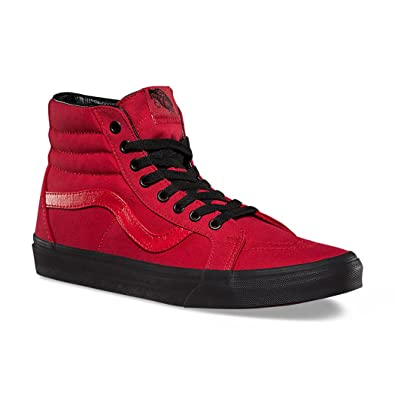 Vans Women s Shoes Sk8-Hi Reissue Red Black Fashion Sneakers (3.5 Men  55af3eddd