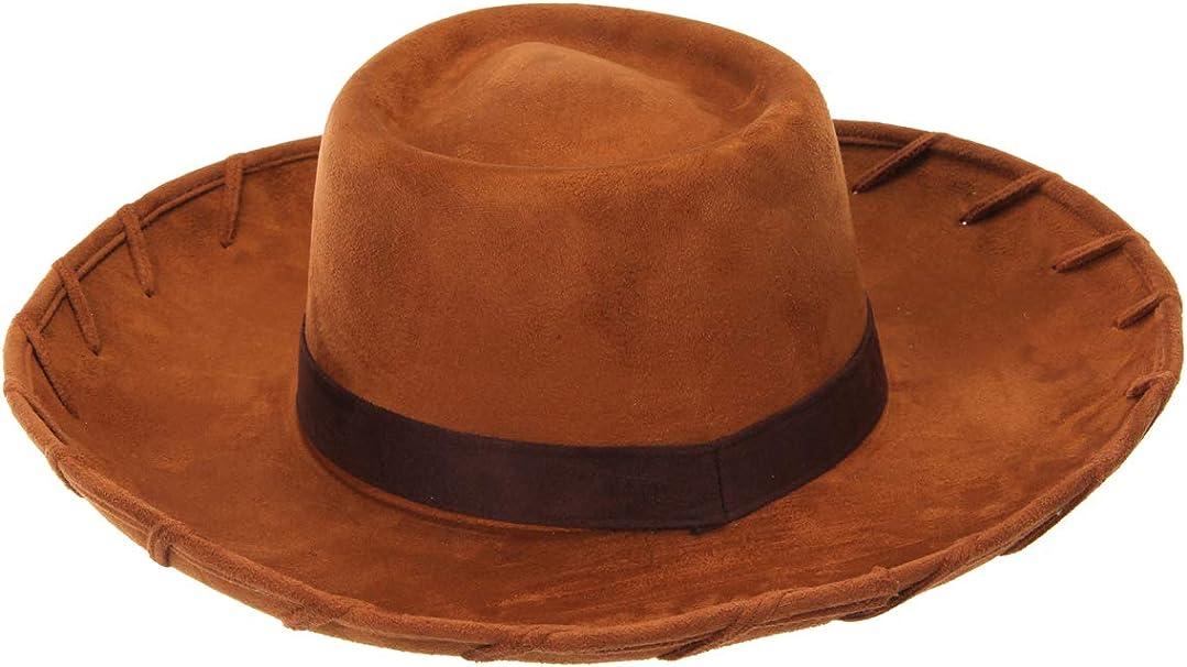 Mens Children Unisex Red Eva Cowboy Hat Kids Woody Jessie Fancy Dress Costume
