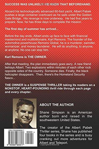 Amazon in: Buy The Owner: Albert Pabek Thriller: Volume 1