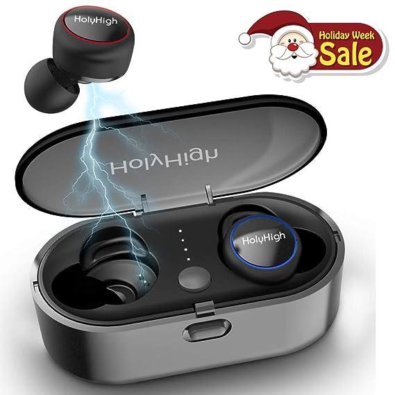 5527d7a20b6 Wireless Earbuds, True Bluetooth 5.0 Earbuds HiFi Stereo Deep Bass,  Waterproof Sports Wireless Bluetooth
