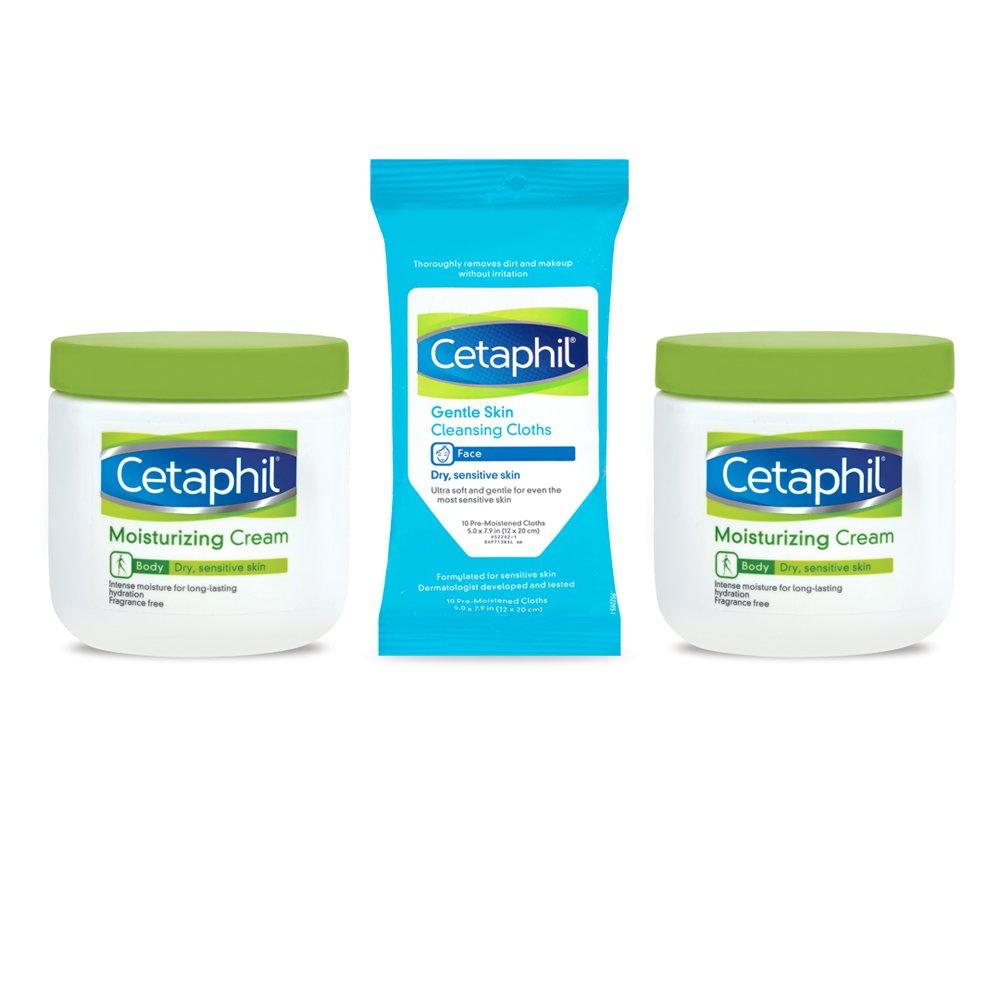Cetaphil Moisturizing Cream for Very Dry/Sensitive Skin, Fragrance Free, 16 Ounce, 3 Count Galderma Laboratories Inc 302993917465