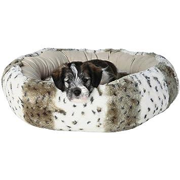 Redondo Peluche Perro Cama para perros pequeños o cachorros: Amazon.es: Productos para mascotas