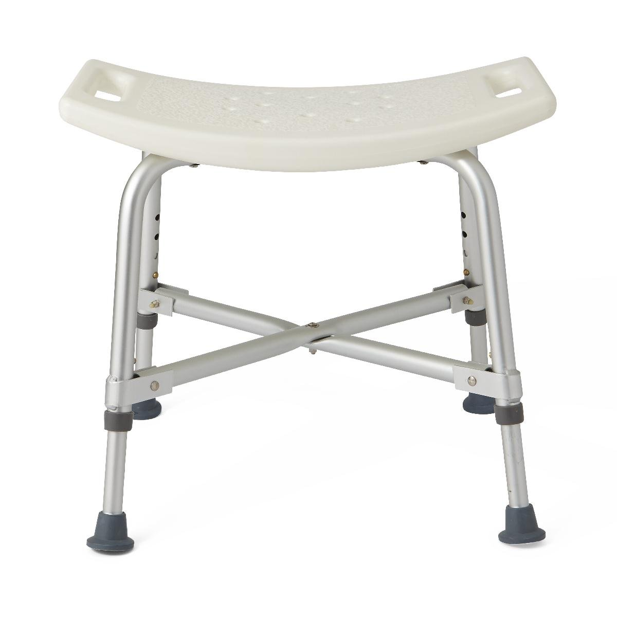 Medline Heavy Duty Shower Chair Bath Bench without Back, Bariatric Bath Chair Supports up to 500 lbs