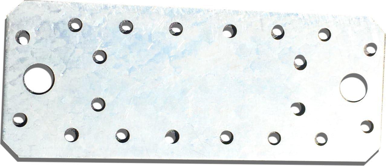 10pcs. Soporte de conexión de placa recta, galvanizado, 140x 55mm x 2mm
