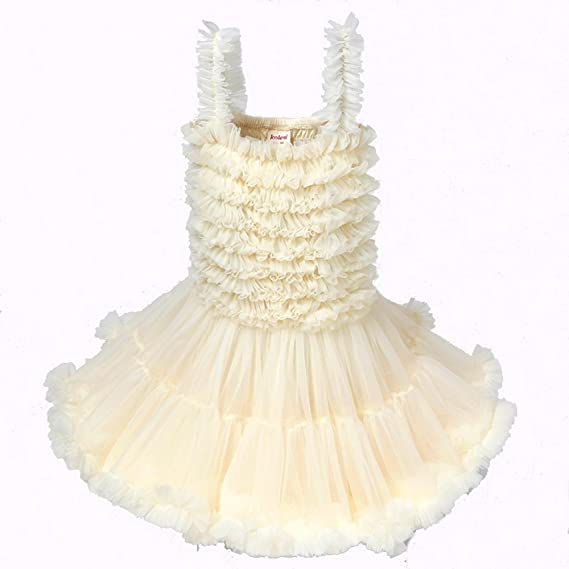 92ba32e175 Baby Pettiskirt Dress Girl Chiffon Fluffy Ruffle Tutu Dress: Amazon.co.uk:  Clothing