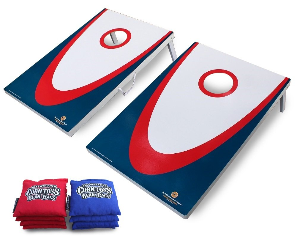 Driveway Games Backyard Cornhole Set. Tailgate Corn Toss Boards & Bean Bags. Family Outdoor Lawn Yard Game