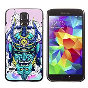 Licase Hard Protective Case Skin Cover for Samsung Galaxy S5 - Neon Japanese Samurai Monster by Maris's Diary