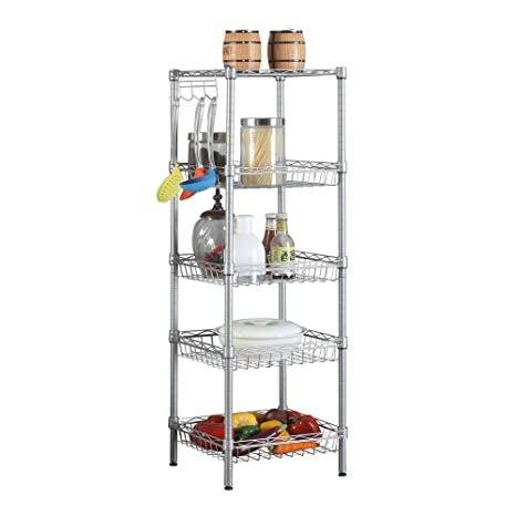 Crazyworld Open Kitchen Metal Rack And Shelves Units, Pots And Pans Wine  Dishes Storage Organizer
