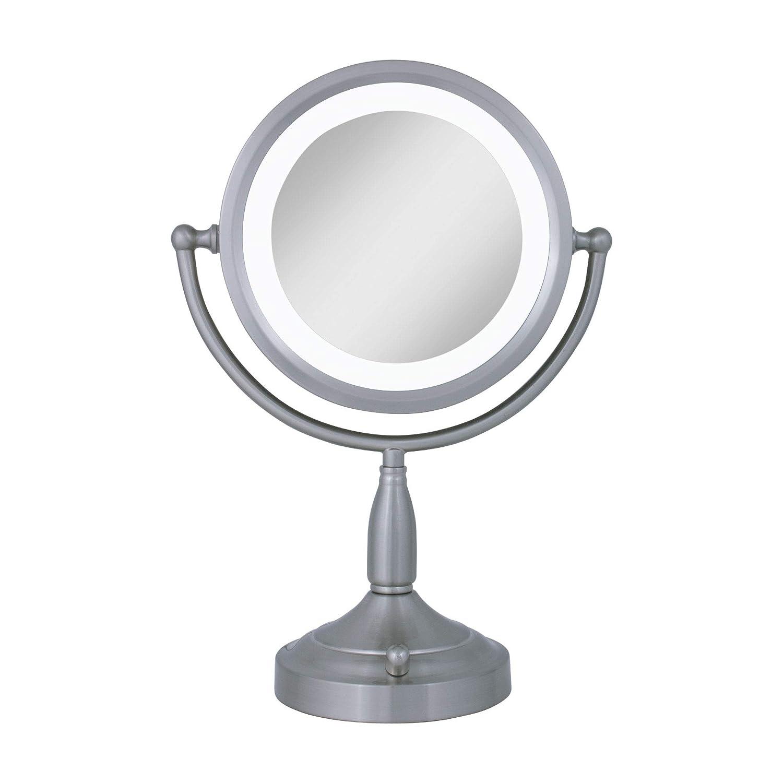 B000UZMWOC Zadro 8X/1X Dual-Sided Lighted Vanity Mirror, Satin Nickel 614x1pJyMQL._SL1500_