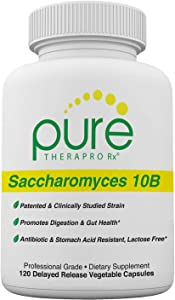 "Saccharomyces Boulardii (10 Billion CFU Per Serving) - 120 ""Acid Resistant"" VCaps   Patented & Clinically Studied Strain   Antibiotic Resistant -Lactose Free   Pharmaceutical Grade   Zero Fillers"