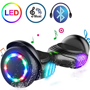 TOMOLOO Hoverboard Bluetooth Speaker Colorful LED Lights Self-Balancing Scooter Review