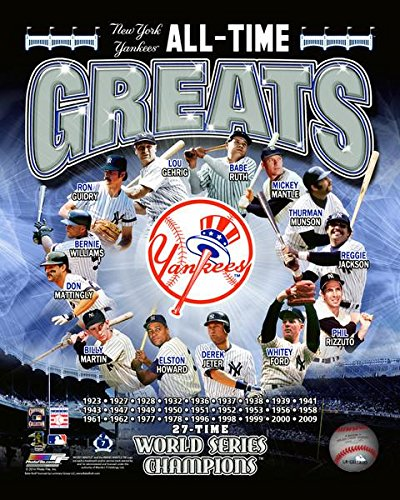 "New York Yankees MLB All Time Greats Photo (Size: 8"" x 10"")"