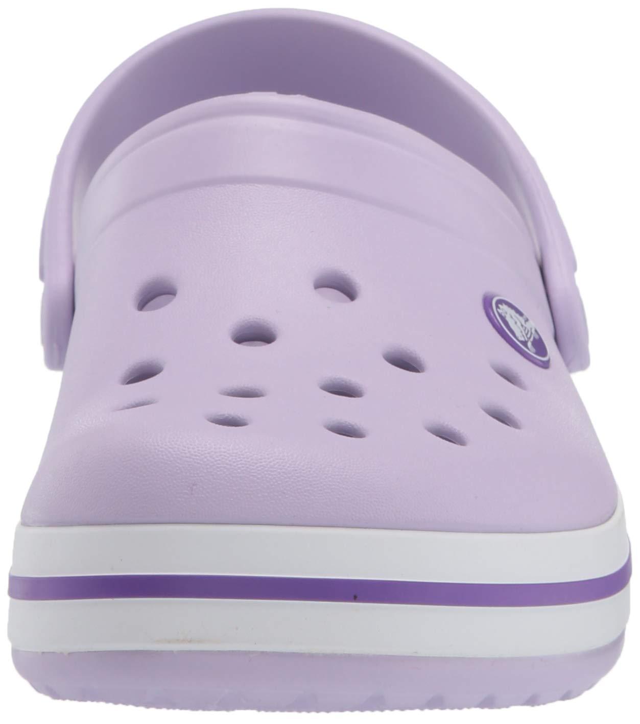 Crocs Kids' Crocband Clog, Lavender/Neon Purple, 10 M US Toddler by Crocs (Image #4)