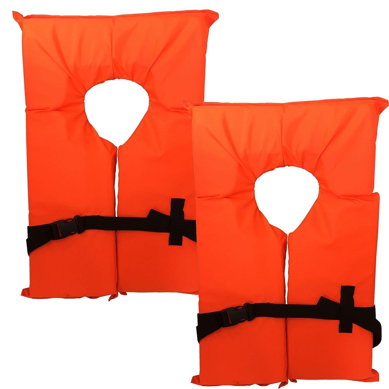 いいスタイル 2パックタイプIIネオンオレンジライフジャケットベスト – – PFD 大人用ユニバーサルBoating PFD B071RCLDCG, JOYアイランド:974e7dfc --- a0267596.xsph.ru