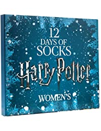 LIMITED EDITION WOMENS HARRY POTTER 12 DAYS OF SOCKS SET for Size 4 - 10 (CREW & LOW CUT SOCKS)