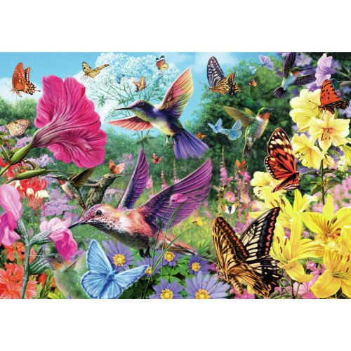 Hummingbird Garden 500 Piece Wooden Jigsaw Puzzle