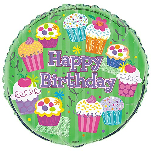 Foil Cupcake Party Birthday Balloon