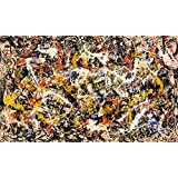 """Jackson Pollock Giclee Canvas Print Paintings Poster Reproduction LARGE SIZE (Convergence 31.5"""" X 18.8"""")"""