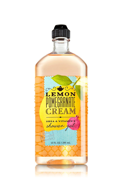 Bath and Body Works Lemon Pomegranate Cream Shower Gel 10 Ounce Body Wash