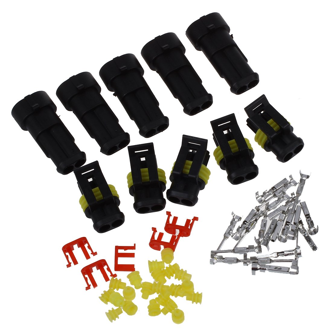 5 SET 2 VIE CONNETTORE IMPERMEABILE 1,5mm PER AUTO SCOOTER R TOOGOO