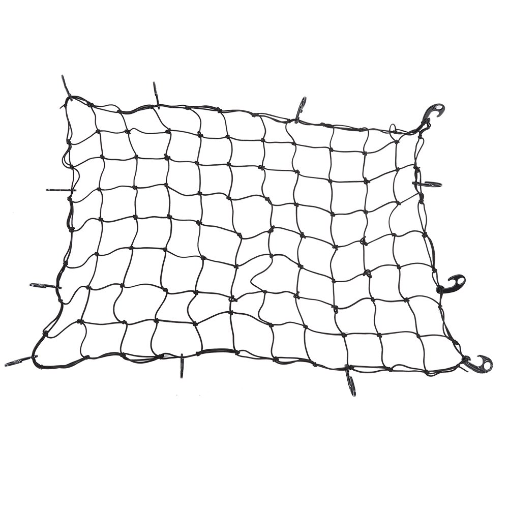 47.2 x 35.4 Inch Clip-on Elasticated Bungee Cargo Net Car Roof Cargo Luggage Carrier Rack Net Daily Use Hotel Storage Hanging Net