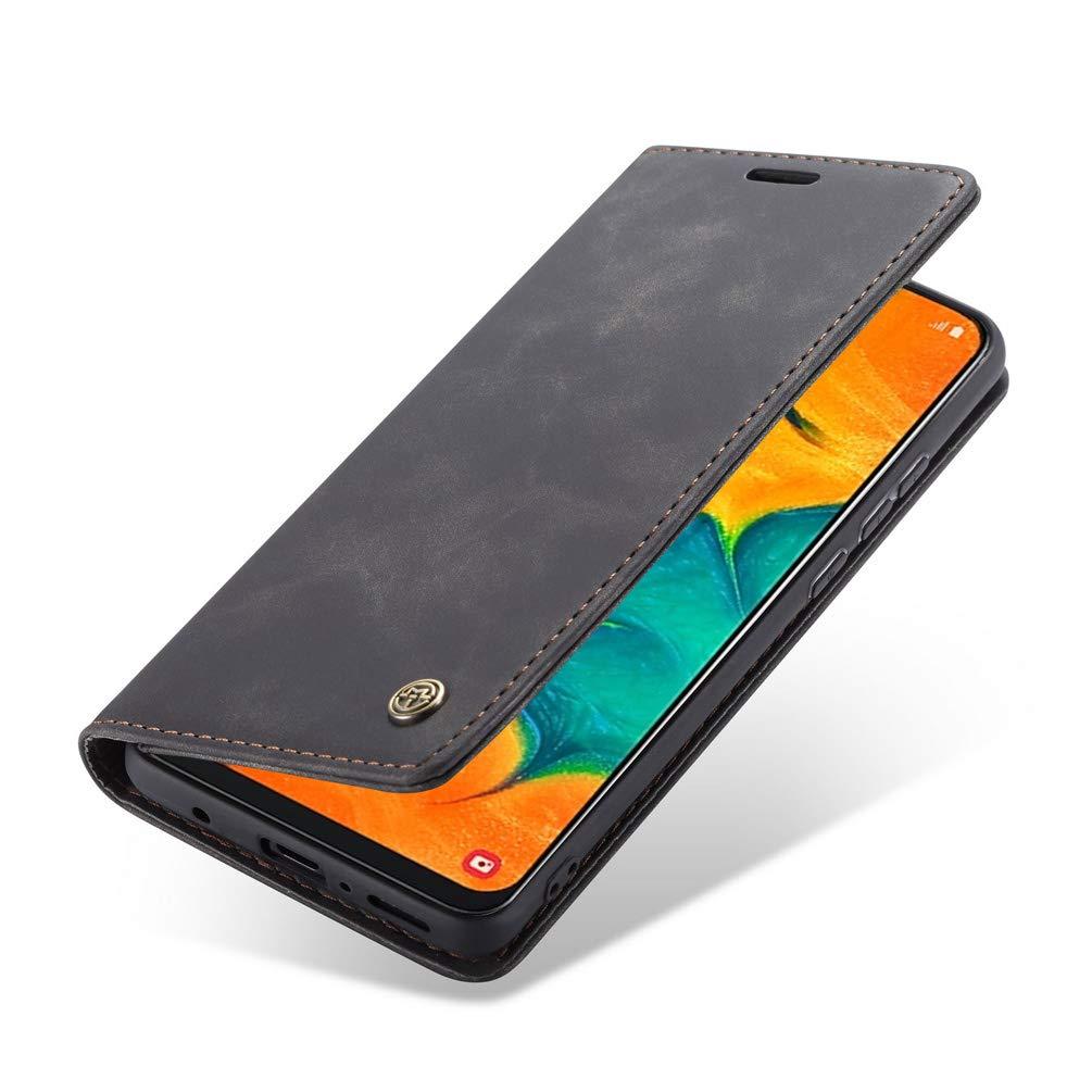 Color S/ólido Multifuncional Flip Folio Premium Billetera Funda Libro de Piel de Negocios con Tarjeta Ranuras y Cierre Magn/ético MUSESHOP para Samsung Galaxy A70 Funda de Cuero Negro