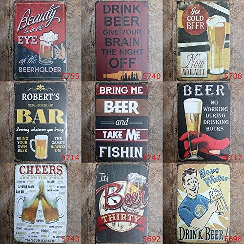 kentop Retro Cartel de chapa Publicidad Pared/ para bar Cafe Home pared decoraci/ón /R/ótulo para puerta