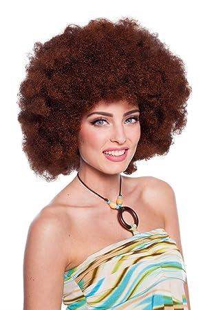 Peluca XXL Afro marrón Disfraz Carnaval Halloween Accesorios Disco