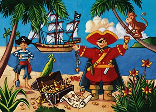 Djeco / Shaped Box Puzzle, The Pirate and The Treasure