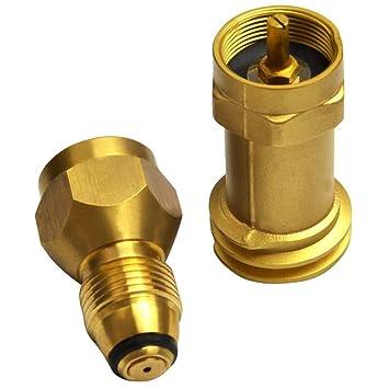 1lb Propane tank refill adapter SOLID BRASS w//valve refill DISPOSABLE 1# bottles