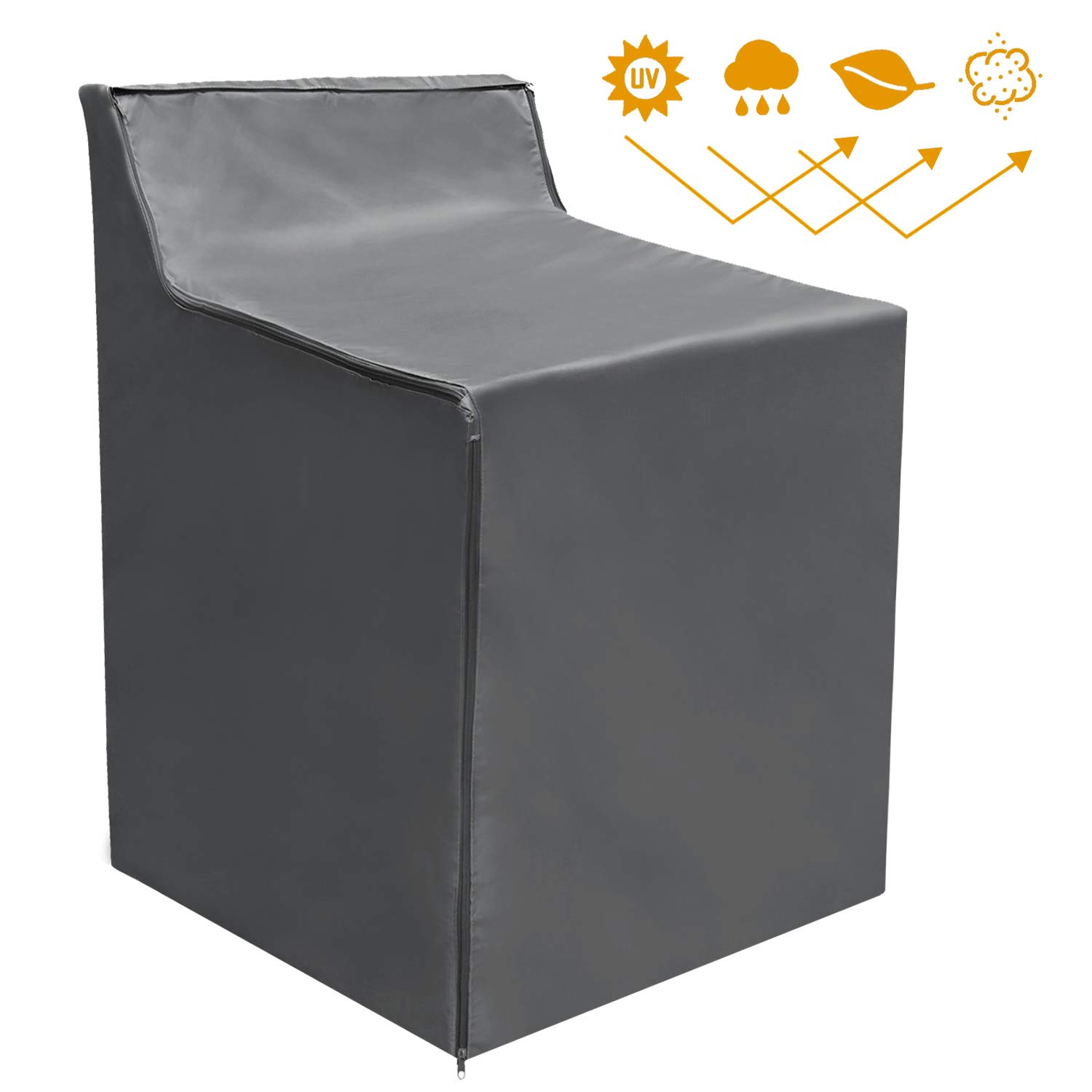 Washing Machine Cover Waterproof Sunscreen Thicker Fabric Zipper Design for Easy use by AKEfit