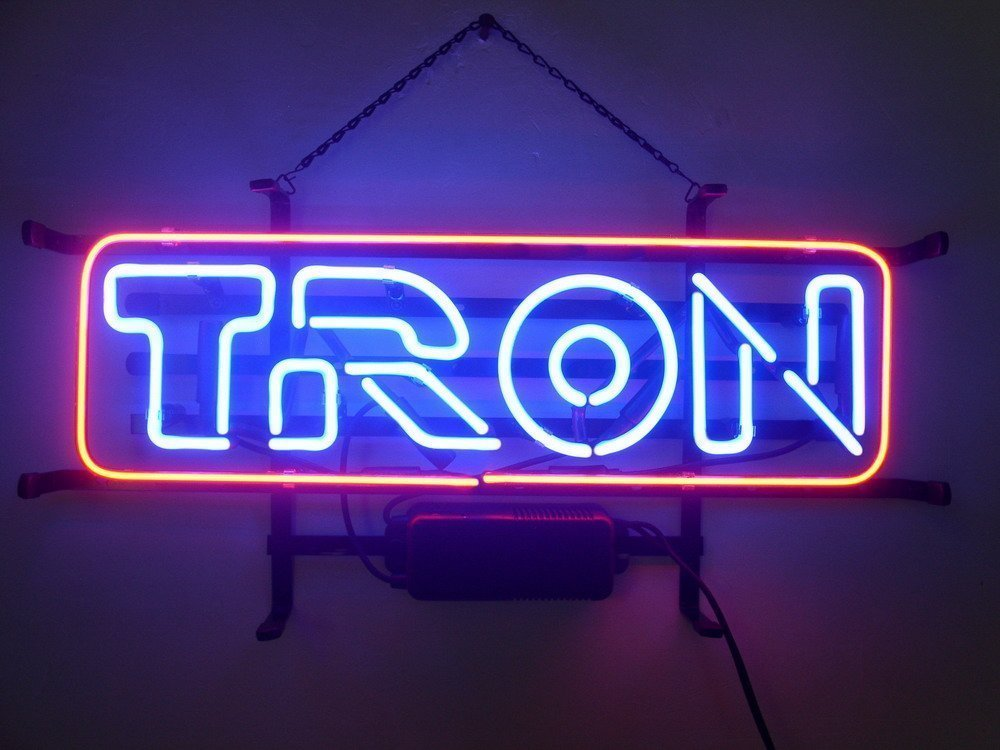 New Tron Neon Light Sign Home Beer Bar Pub Recreation Room Game Room