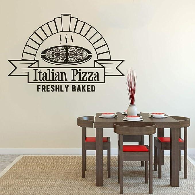 Pizza Fresca Pizza Shop Ventana Vinilo Cocina Etiqueta de la ...