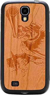 product image for CARVED Matte Black Engraved Cherry Wood Case for Samsung Galaxy S4 - Wild West (S4-BC1K-E-WWST)