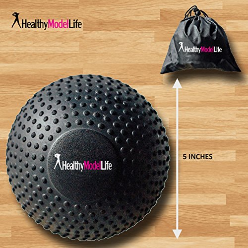 """HEALTHYMODELLIFE 5"""" Foam Roller Massage Ball by Healthy Model Life Better Than Any Foam Roller For Trigger Point and Glute Release Includes Free Carry Bag"""