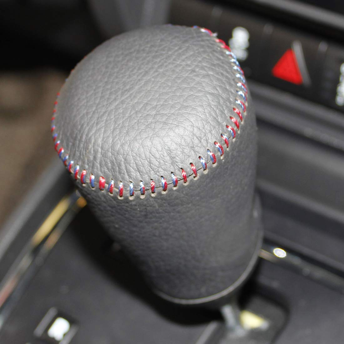 JI Loncky Genuine Leather Gear Shift Knob Cover for 2007 2008 2009 2010 2011 2012 2013 2014 2015 2016 Jeep Compass Automatic 2007 2008 2009 2010 2011 2012 2013 2014 2015 2016 Jeep Patriot Automatic