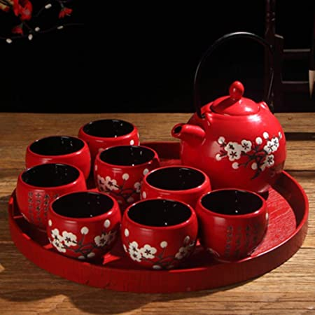 Céramique Tea Set incluent 1 pot 1 tasse Kung Fu teaset